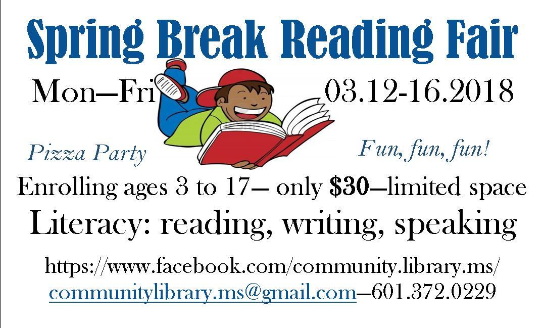 Spring Break Reading Fair
