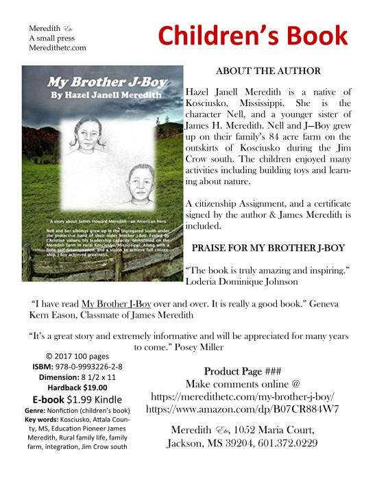 My Brother J-Boy by Hazel Janell Meredith